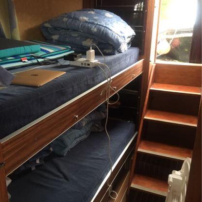 Aft Berth Bunk Beds